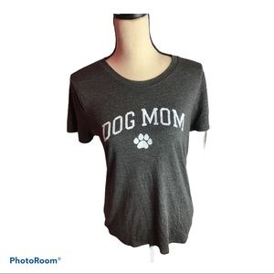 Modern Lux Dog Mom T shirt Top Gray Large Near New